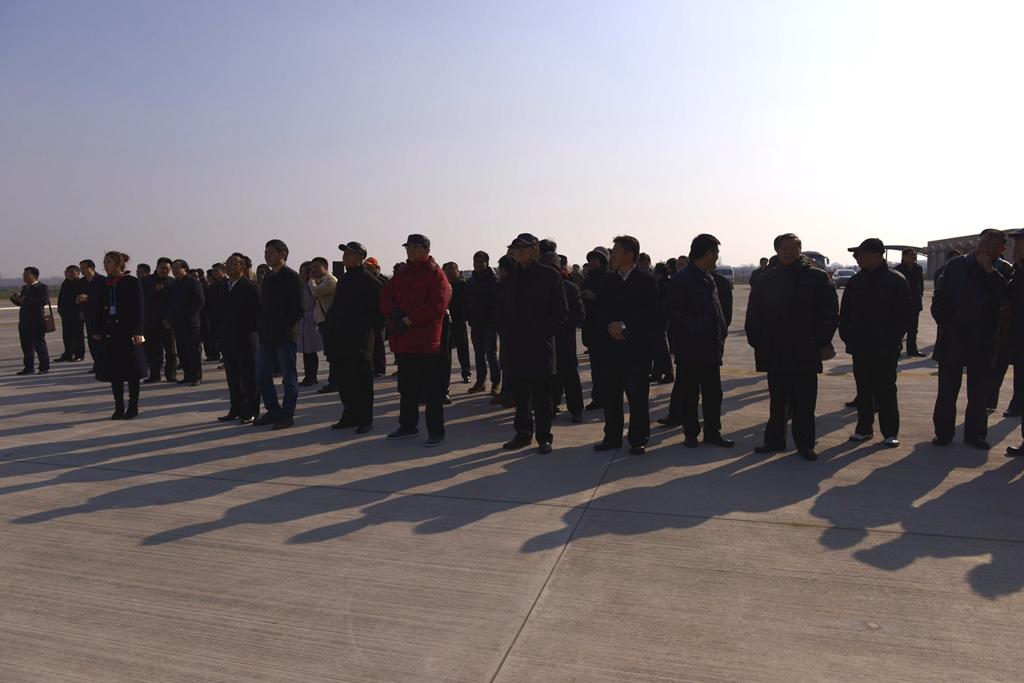 镇江大路通用飞机场开飞仪式